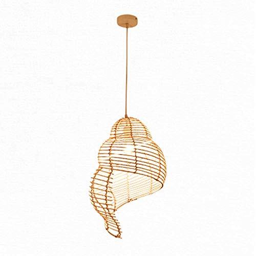 YML natuurlijke bamboe hanglamp creatieve schelp licht wikkelaar DIY kroonluchter E27 basis rotan hanglamp voor eetkamer hal slaapkamer verlichting