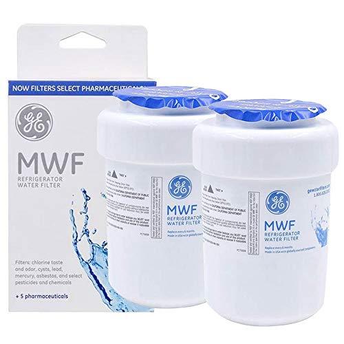 MWF Refrigerator Water Filter Replacement [2PCS] for GE Smart Water MWF, MWFP, MWFA, MWFAP, MWFINT, GWF, GWF01, GWF06, GWFA, HWF, HWFA, FMG-1, FMG