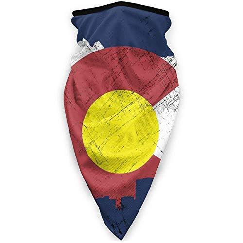 Pearl Bertie Colorado Flag City Mountains Vollgesichtsschal Kapuze Herren Winddichte Schädelkappe Dehnbarer Sturmhaubenschal für den Wintersport