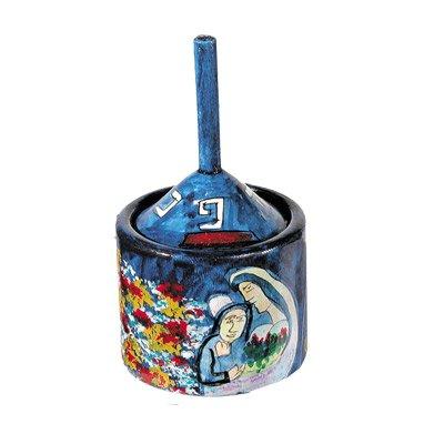 Dreidel Hanukkah Gifts Ornament Game - Yair Emanuel HANUKKAH DREIDEL BOX FIGURES BLUE (Bundle)