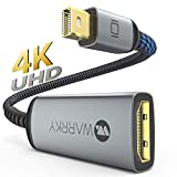 Mini DisplayPort to HDMI Adapter 4K, WARRKY Thunderbolt to HDMI Adapter [Slim Aluminum Shell, Gold-Plated] 4K Mini DP to HDMI for MacBook air/pro, iMac/Mac Mini, Surface Pro/Dock, TV, Monitor&More