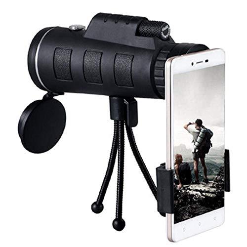 Lente telescópico astronómico para teléfono móvil Moblie Zoom objetivo para Smartphone macro objetivo para iPhone con brújula teléfono clip trípode