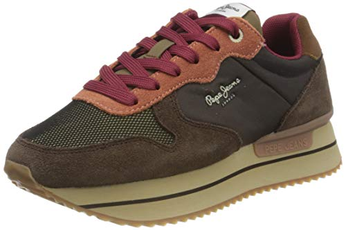 Pepe Jeans London Damen RUSPER YOUNG20 Sneaker, 886TRUFFLE, 37 EU