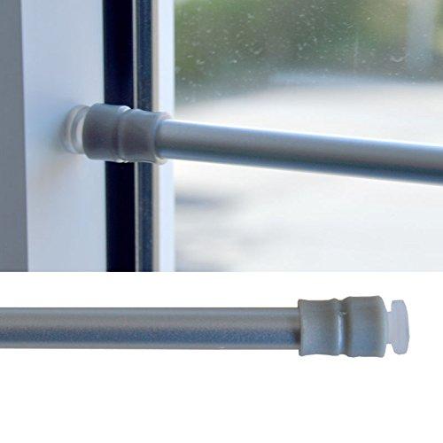 HOPEG Gardinen-Klemmstange Gardinenstange Scheibenstange ohne Bohren 40-60cm Silber