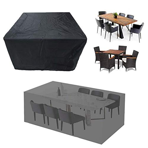 YDYG Patio Furniture Cover Outdoor Sectional Furniture Covers Waterproof Dust Proof Lounge Porch Sofa Protectors Dining Table Covers,308x138x98cm