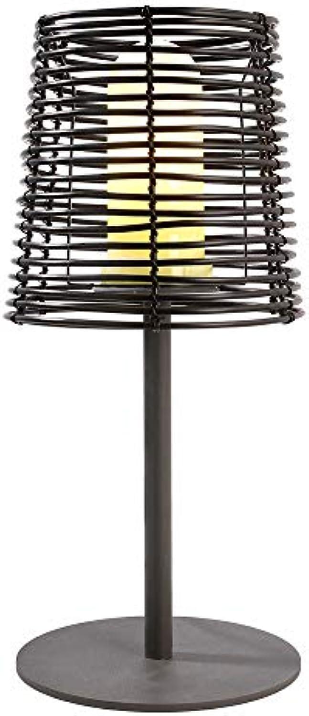 Kapego Auenleuchte VELORUM Dekorative Tischleuchte, 51cm, E27, schwarz