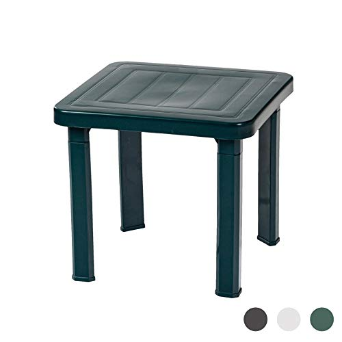 Resol Sun Lounger Side Table In Green/Garden Table Polypropylene Plastic (Sold Singularly) - UV Resistant, stylish and durable furniture for your garden
