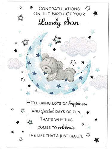 Nieuwe Baby Zoon Kaart 'Op De Geboorte van Uw Lieve Zoon '