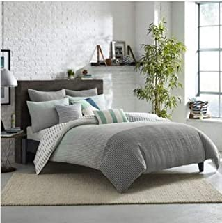 KAS Room Finley Twin Size Duvet Cover in Grey