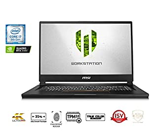 "MSI WS65 9TK-899CA 15.6"" FHD Thin and Light Mobile Workstation Intel Core i7-9750H Quadro RTX 3000 32GB 1T NVMe SSD WIN10 Pro (B07V122413) 