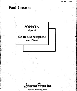 Sonata Opus 19 for E-flat Alto Saxophone and Piano