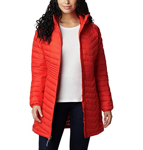 Columbia Powder Lite Jacket Chaqueta Larga, Mujer, Naranja (Bold...