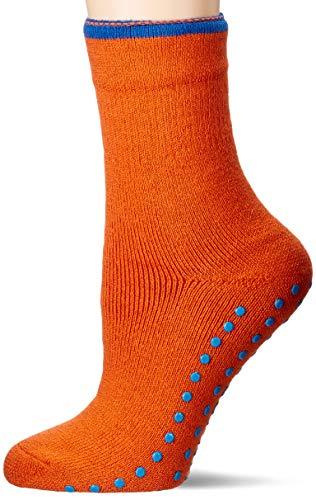 ESPRIT Damen Cosy Hausschuh-Socken, orange (orange mel. 8405), 35-38