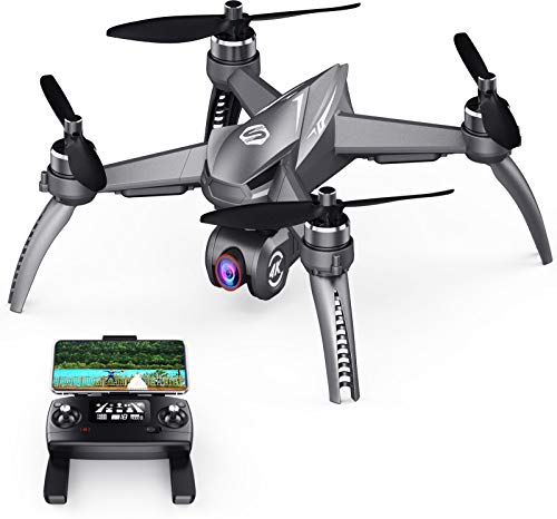 SANROCK B5W GPS Drones with 4K UHD Camera for Adults Kids Beginners, RC Quadcopter with Brushless Motor, 5GHz FPV Transmission, 120° Wide Angle 90° Adjustable, Auto Return Home, Long Contronl Range