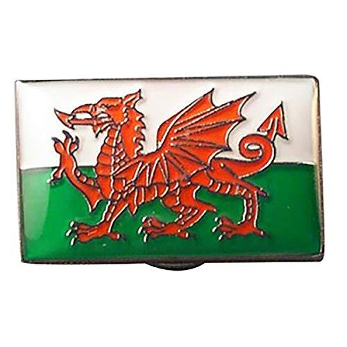 Pin Mania Brosche mit walisischer Drachenflagge von Wales, St. David Cymru, Metall, Emaille