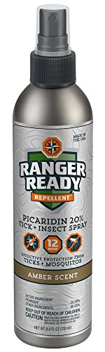 Ranger Ready Insect Repellent with 20% Picaridin Mist Spray Bottle, Amber Scent, 8 Ounce