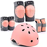 Purpol Kids Bike Helmet, Toddler Helmet Adjustable for Kids Youth, Knee Pads Elbow Pads Wrist Guards Kids Protective...
