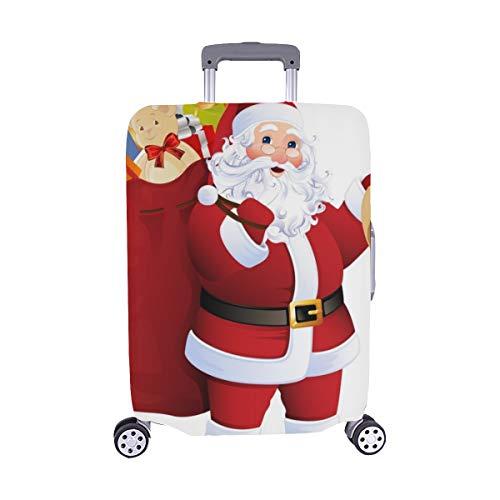Santa Claus que lleva el saco Spandex Maleta de viaje Maleta protectora de viaje Cubierta 28.5 X 20.5 Inch