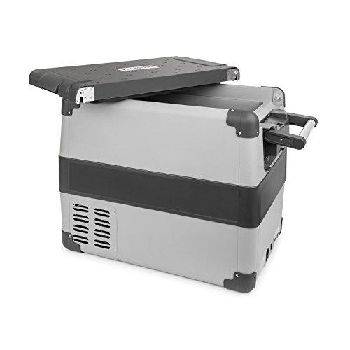 Klarstein Survivor 50 - Kühlbox, Mini-Gefrierbox, 50 Liter, Auto, Camping, 12 Volt / 230 Volt, tragbar, -22 °C bis +10 °C, Betrieb über Zigarettenanzünder oder Netzstrom, USB-Port, grau