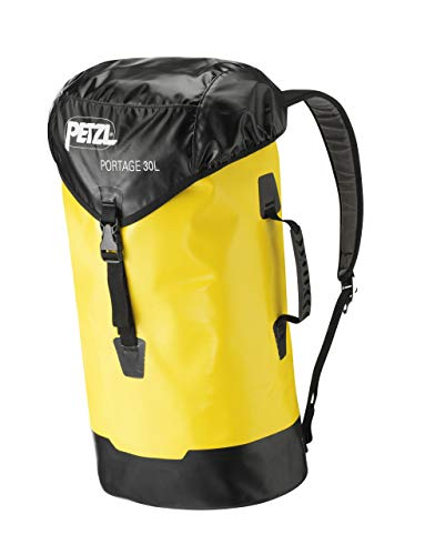 Petzl S43Y 030 PORTAGE Durable Bag, 30 L, Yellow/Black