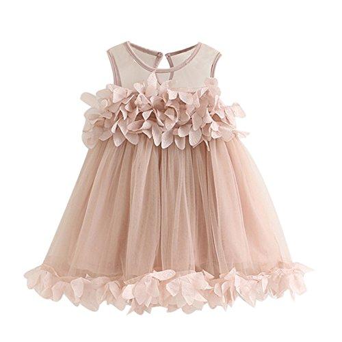 Cramberdy Bekleidung Baby Kinder Mädchen Kleider Ärmellos Sommer Prinzessin Kleid Mädchen Kleider Festzug Kleider Sommer Kinderbekleidung Party Brautkleid Sleeveless Print Kleider (2Jahre-6Jahre)