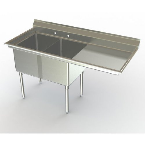 Learn More About Delux Two Compartment NSF Sink with 24 x 18 inch Bowl