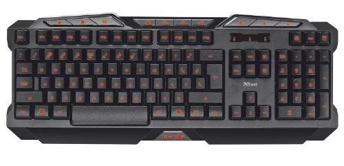 Trust GXT 280 LED Illuminated Gaming Tastatur (QWERTY) für PC