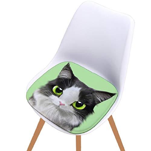 FKIHK Sitzkissensuperweiches 3D-Druck-Sitzkissen aus Flanell im Tierstil für die Heimküchendekoration, 08,40x40cm