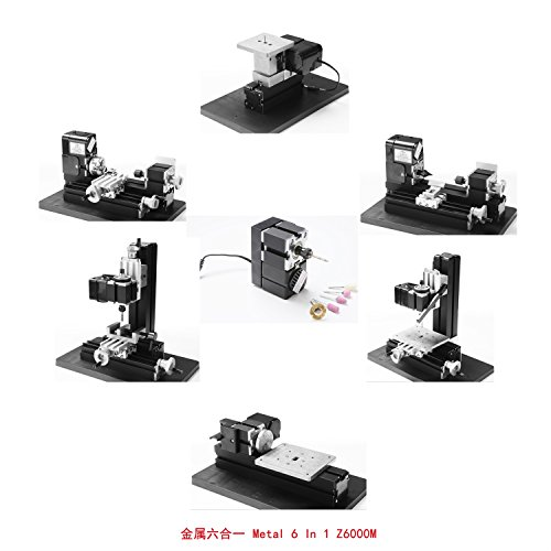 Check Out This Motorized Mini Metal Working Lathe Machine DIY Tool Metal 6 In 1 Kit Box For Hobby Si...