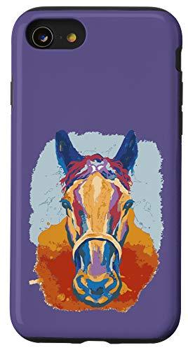 iPhone SE (2020) / 7 / 8 Horse Watercolor Purple Case