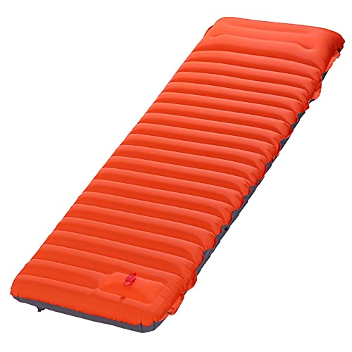 Esterilla de DormirColchoneta para dormir para acampar, colchoneta inflable portátil impermeable para dormir con almohada, colchón de aire para acampar con empalme ultraligero y duradero(Color:C)