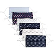 Perry Ellis Reusable Pleated Woven Fabric Face Masks (Pack of 6, Assorted Prints and Colors), Assorted - Pleated, One Size
