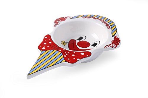 Hendi Eiscremeschale Clown, Hohe Schlag- und Verschleißfestigkeit, geeignet für Ofen, Mikrowelle, Geschirrspüler, 226x145x(H)37mm, Weiß Porzellan