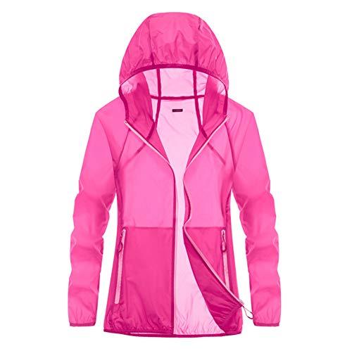Elwow Lady Girl - Chaqueta cortavientos plegable para mujer, de secado rápido, para correr, ciclismo, camping, senderismo