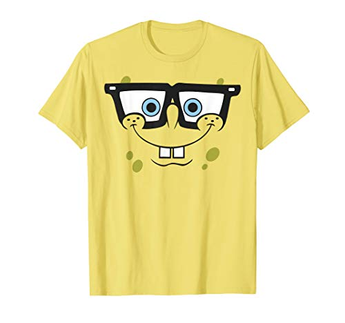 SpongeBob SquarePants Nerd Glasses Face T-Shirt