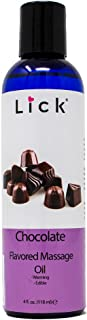 Chocolate Flavored Massage Oil for Massage Therapy - Relaxing Muscle Massage for Men and Women with Natural Vitamin e Oil ...