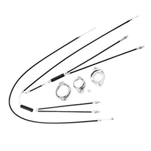 Hellery Juego Completo Negro de Cables de Freno de Giro BMX Delantero Trasero + Rotor Giratorio Inferior