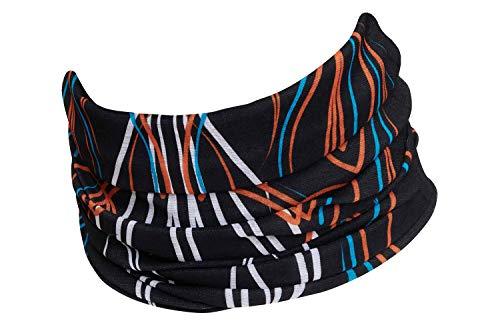 Hilltop Multifunktionstuch, Kopftuch, Motorrad-Halstuch, Bandana/TOP Farben, Farbe/Design:Orange Blue Fineline
