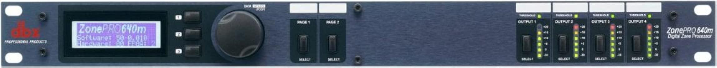 dbx ZonePRO 640 6x4 Digital Zone Processor