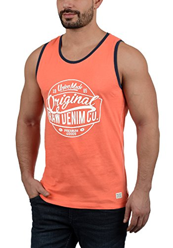 BLEND Walex - Camiseta sin Mangas Hombre, tamaño:L, Color:Coral Sea Red (73828)