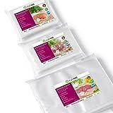 culivac Vacuum Food Sealer Bags 100 pcs 16x25cm and 100 pcs 20x30cm and 100 pcs 30x40cm - Professional Set 4