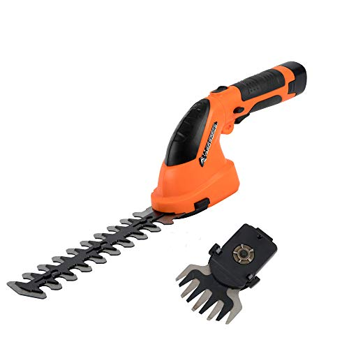 Yard Force 7.2 V Cordless Edging Grass & Hedge Shear Set with Li-Ion battery and Charger - LH A17
