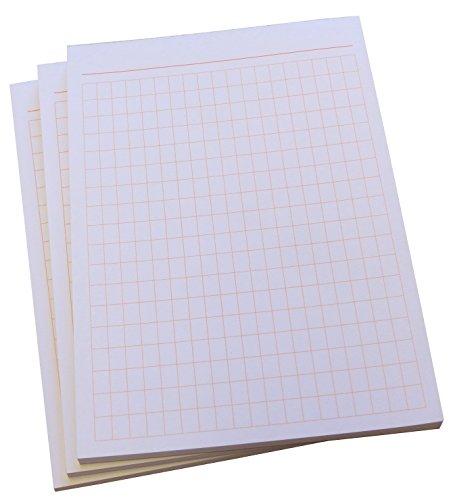 4x Notiz-Block - rautiert in ORANGE - 50 Blatt - Staffelpreise verfügbar - DIN A6 Format (22388)