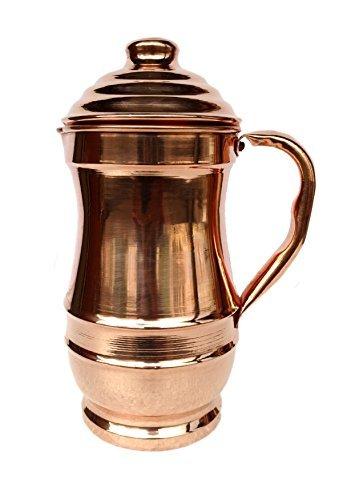 Rastogi Handicrafts Jarra de cobre puro Maharaja jarra de cobre para ayurveda...