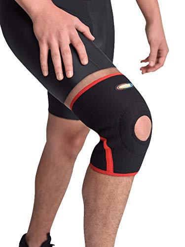 MAXAR Airprene Bio-Magnetic Knee Sleeve Compression Brace for Men & Women BMK-219 Black X-Large