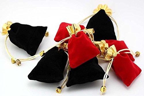 Etruke Bijoux en velours Bague Collier Pendentif Pochettes avec cordon de serrage Sac cadeau 5 pcs