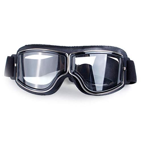 Daesar Nachtfahrbrille für Brillenträger Schwarz Klar Sportbrille Herren Motorradbrille Herren