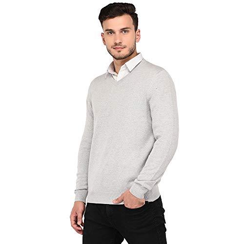 Armisto Plain Super Soft Men's Sweater in Grey Melange (Workwear/Casual Wear/Sports Wear)
