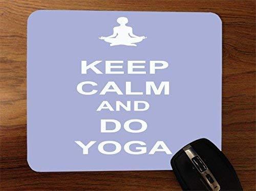 Alfrombrillas Keep Calm and Do Yoga Violet Desktop Office SiliconeAlfombrilla de ratón para Gaming by Debbie's Designs
