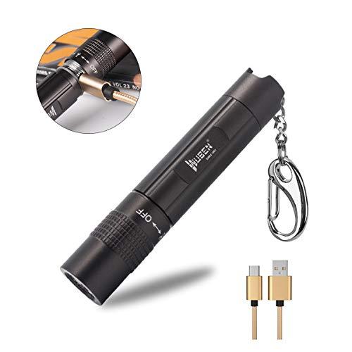 WUBEN Linterna LED USB recargables,Mini llavero linterna Luz EDC,10440 batería de iones de litio,IPX8 a prueba de agua,3.7v,linterna para caminar al aire libre